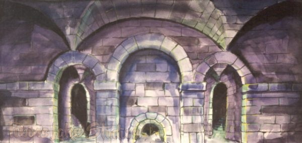 128 - Stonewall with Arches