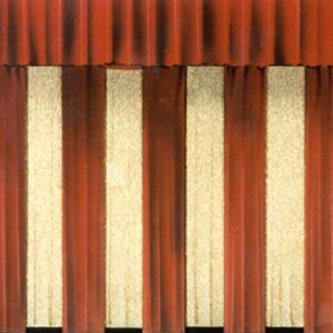 153 - Red and Gold Panel Curtain