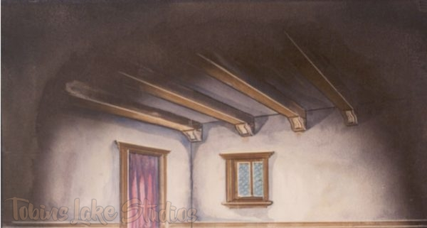 19 - Vignetted Room with Beam Ceiling Drop