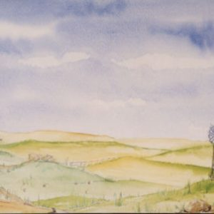 244 - Hills and Fields with Barns