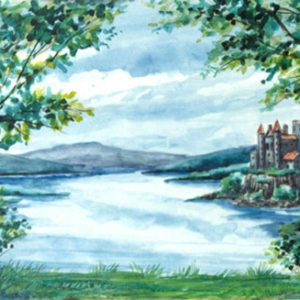 501 -  Clearing with Castle and Lake