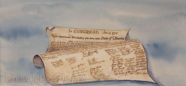 60 - Declaration of Independence Scrim