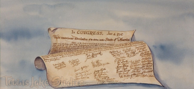 60 - Declaration of Independence Scrim