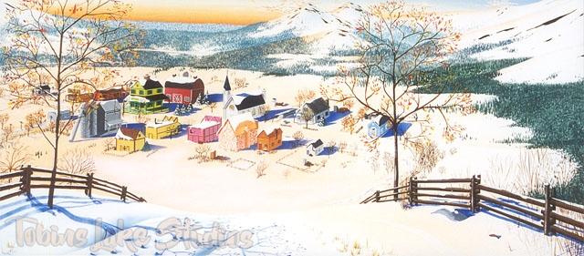 825 - Village Snow Scene