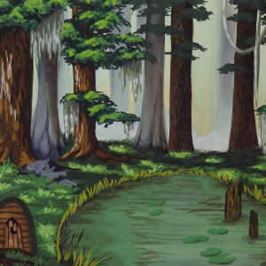 58 - Swamp with Cottage